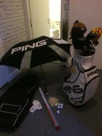 Prosimmon icon golf clubs full set with ping tour bag plus accessories