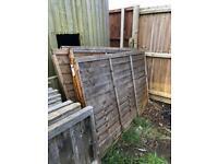 3 overlap fences 4x6 £20