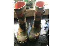 Joules boys wellies size 12