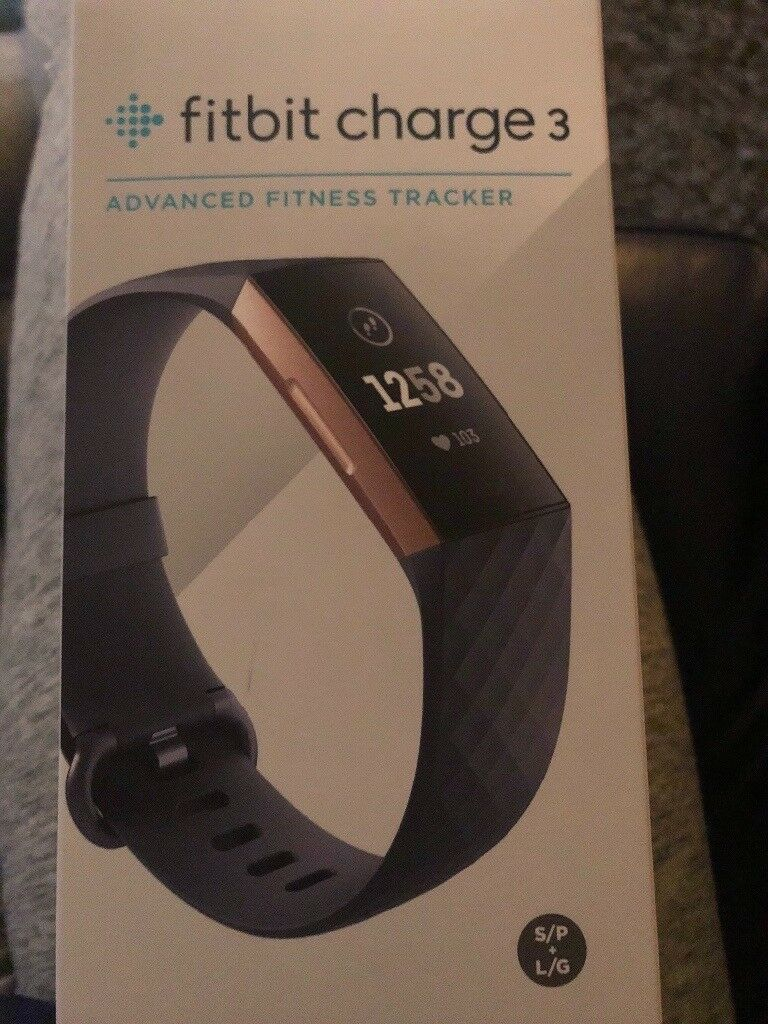 Brand New Fitbit Charge 3 Rose Gold Blue In Walton