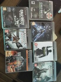 7 PS3 games inc COD, Assassins Creed and star wars