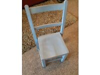 Painted Wooden Child's Chair