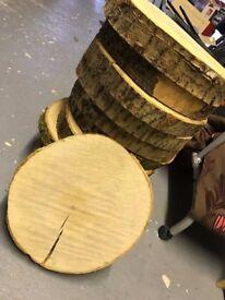 12 Wood Tree Slices - Wedding Centrepiece