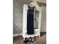 BRAND NEW MIDNIGHT BLUE PROM DRESS UK SIZE 10