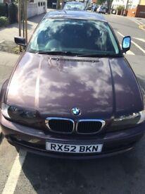 Nice looking BMW 3 SERIES 52 Reg.