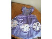 Girls sofia dressing up princess dress age 2-3