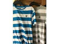 Ages 14/15 Lyle and Scott boys striped tops