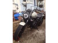 Kawasaki Vulcan 650s ABS 1400 miles with 6 month manufacturers warranty left to run