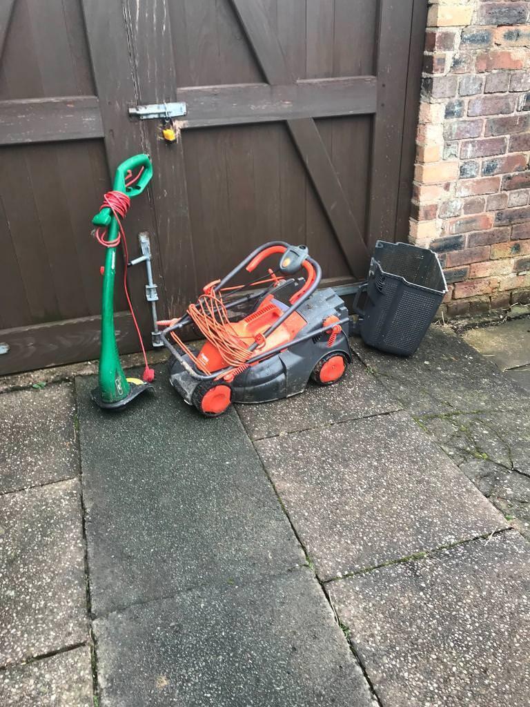 Flymo lawn mower & qualcast strimmer