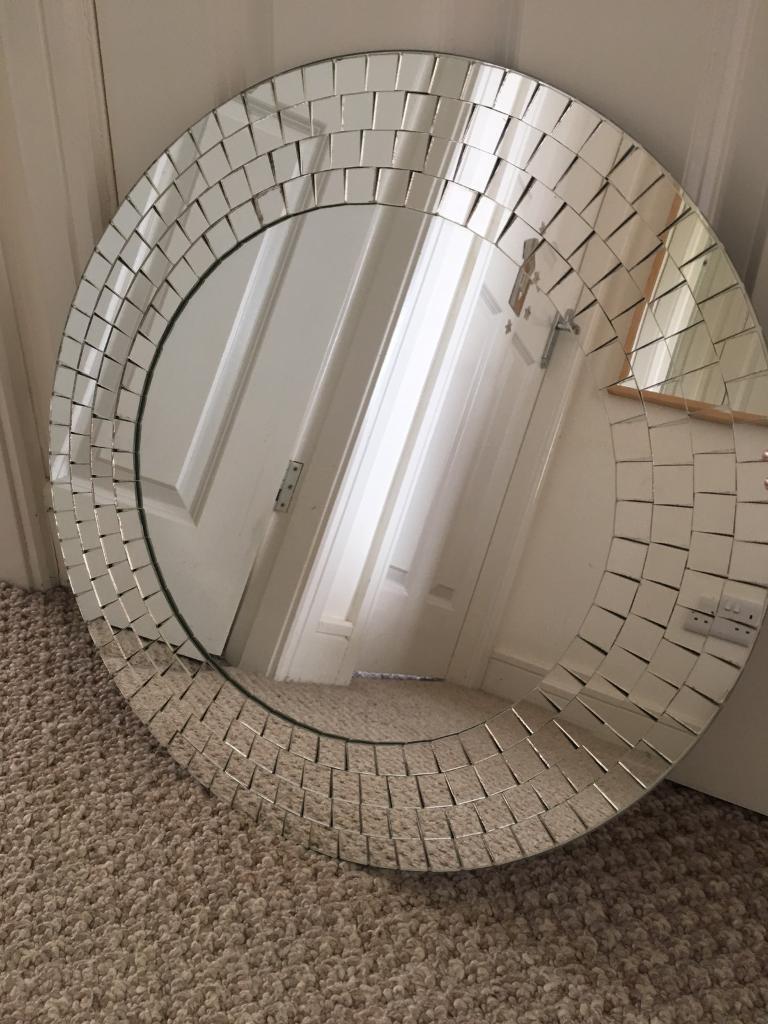 Ikea Tranby Round Mosaic Mirror