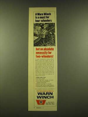 1973 Warn Winch Ad - A Warn Winch is a must for four-wheelers