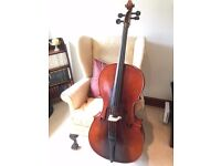 Concertante Antique finished Cello, Bow, case and accessories