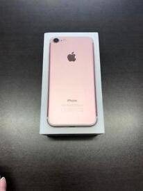 iPhone 7 32gb Vodafone lebara talk talk good condition with warranty rose gold colour