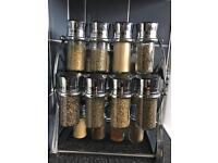 Spice spinning carousel rack