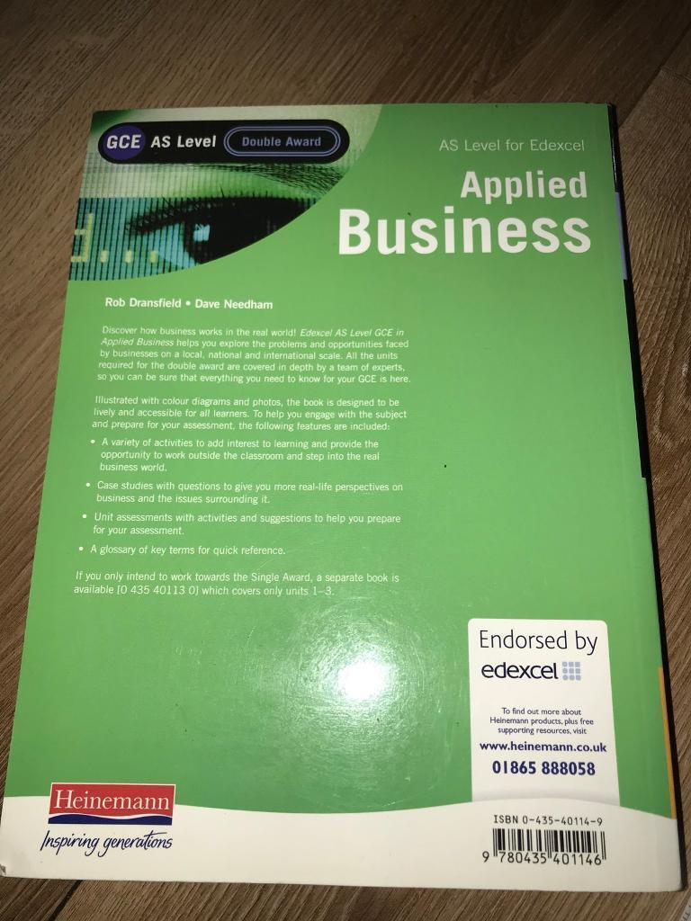 Applies Business GCE AS Level