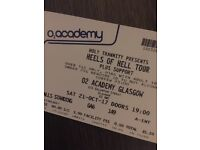 2 x Heels of Hell tickets up for sale (Glasgow 21/10/17)