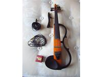 Full size Yamaha silent / electric violin (SV-100) with case for sale