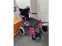Lightweight Pink Manual Wheelchair