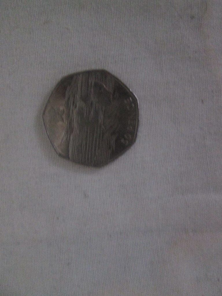50p - 50 pence olympic swimming 2011 circulated coin