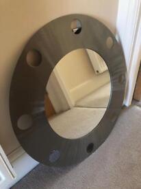 Mirror with stainless steel border, nautical theme