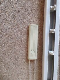 White Apollo vertical blind headrails - various lengths, fittings and some slats