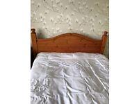 Pine headboard 5Ft Kingsize and free G Plan Kingsize Divan bed