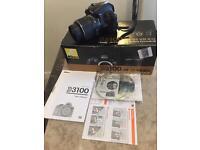 Nikon d3100 camera with kit lens