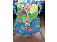 Unisex animal musical vibrating bouncy chair