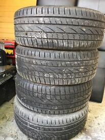 Part worn Continental tires 225/55/R19