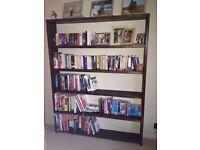Handmade Chunky Rustic Bookshelves Dark Oak Finish