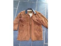 Timberland large weathergear fleece lined cord jacket size L