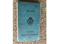 THE AUTOMOBILE ASSOCIATION HANDBOOK 1937-1938 - GOOD CONDITION - HARDCOVER