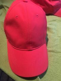 Red Nike golf cap