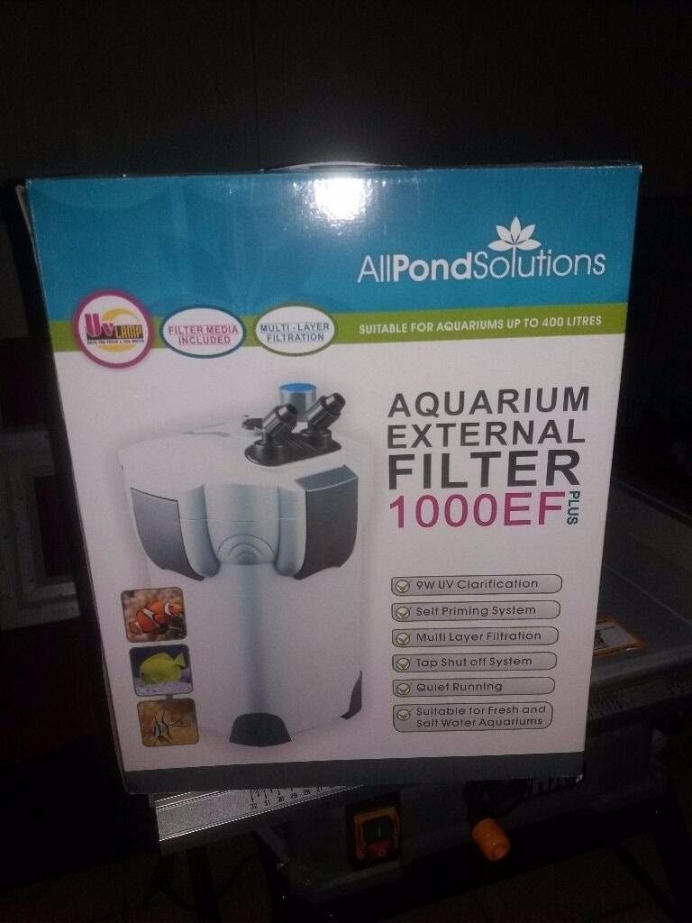 All pond solutions aquarium fish tank external filter - All Pond Solutions 1000ef External Fish Tank Filter With Uv