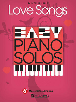 LOVE SONGS – EASY PIANO SOLOS SHEET MUSIC SONG BOOK