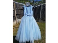 Flower girl bridesmaid dress age 8 baby blue