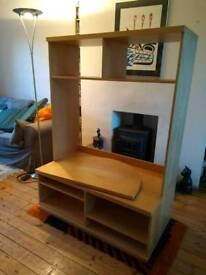 Ikea Bonde TV stand, turntable and storage unit
