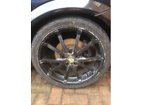 "17 "" alloy wheels 5 stud 110 vauxhall GM astra vectra zafira signum SRI GSI also fit saab & alfa"