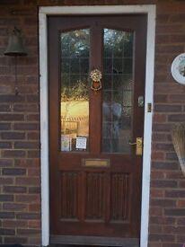 Heavy duty solid wood front door