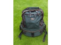 Rucksack camera bag and 2 no compact camera bags all in mint condition