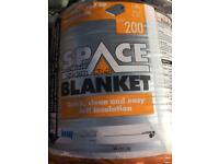 Space blanket loft insulation