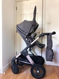 Stokke pram pushchair excellent as New!+ accessories