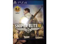 Sniper elite 3 PS4 game