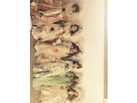 Six vanity fair porcelain dolls
