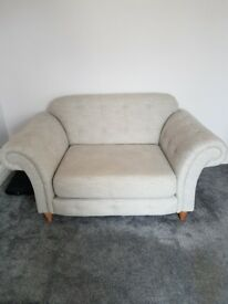 Beautiful grey chesterfield sofa suite with foot rest for sale