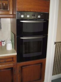 INDESIT DOUBLE OVEN - 4 YEARS OLD. VERY CLEAN AND IN FULL WORKING ORDER - £65 ONO - YOU COLLECT
