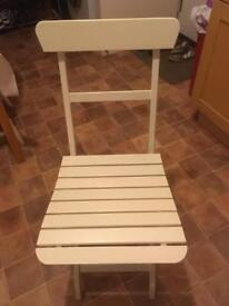 Ikea fold away cream chair perfect condition