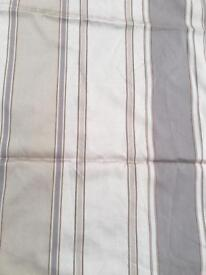 1 Pair of Brown Stripped Curtains 60x66 Inches