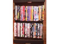 Box of 50 dvds mix of adults and childrens