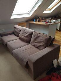Free beige sofa, top quality, 3mx1m approx